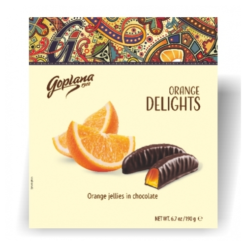 Goplana Orange Delights narancs ízű 190g