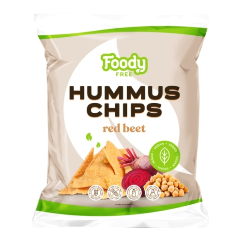 Foody Free hummus chips cékla 50g