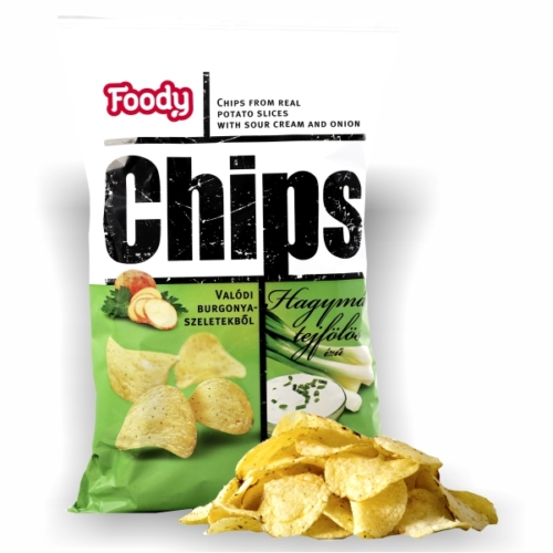 Foody chips hagyma-tejf       90g